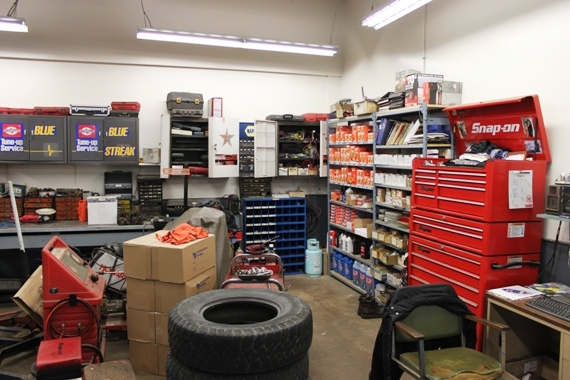 Large inventory of auto repair parts